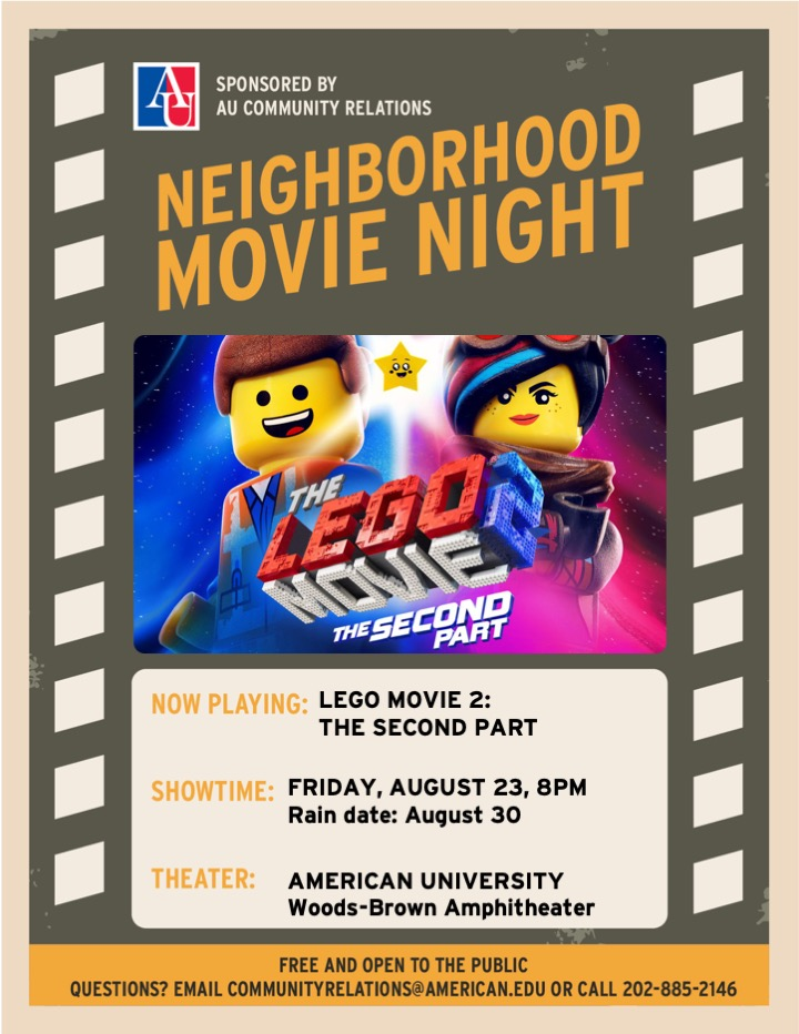AU Neighborhood Movie Night