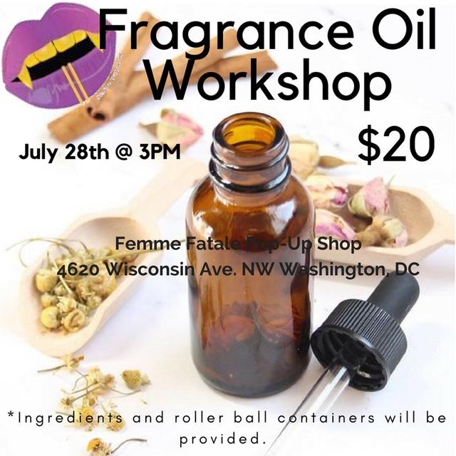DIY Fragrance Oil Workshop - Tenleytown Main Street