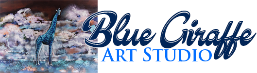 Art Studio Blue Giraffe