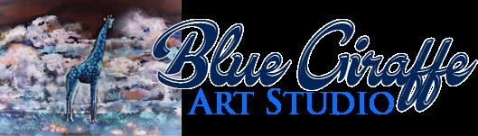 Art Studio Blue Giraffe