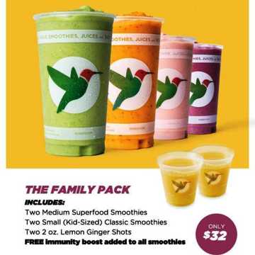 Smoothies & Wellness Family Pack - $32