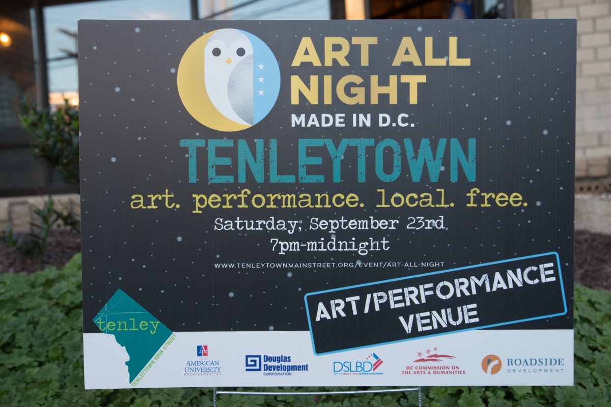Art All Night Sign